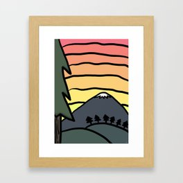 Mountain Sunrise Framed Art Print