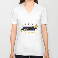 thailand V-neck T-shirts featuring Thailand by mailboxdisco