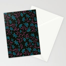 Teal Lilly Floral Pattern  Stationery Cards