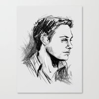 winchester Canvas Prints featuring Dean Winchester by charlotvanh