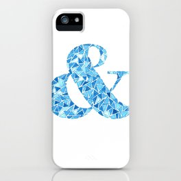 Faceted Ampersand iPhone Case