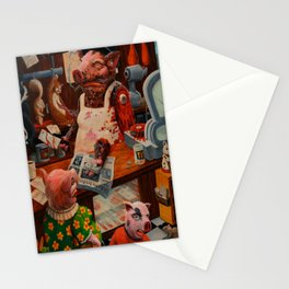Meat Market Stationery Cards