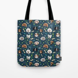 puppy party repeating pattern Tote Bag