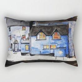 Polperro at Night Rectangular Pillow
