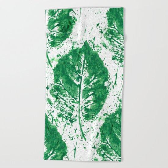 Leaves Mess Beach Towel