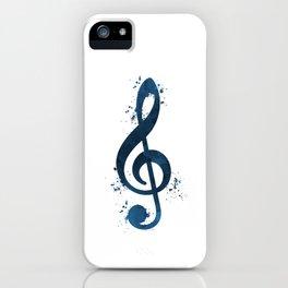 Treble clef iPhone Case