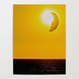 Abstract Kite Surfing With The Sun Poster