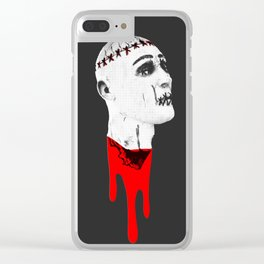 Severed Head - Feeling Ghoulish Dripping Blood Clear iPhone Case