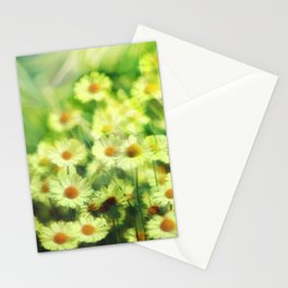 """Spring of daisies, green and sunlight"" Stationery Cards"