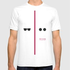 Pretty in Pink SMALL Mens Fitted Tee White