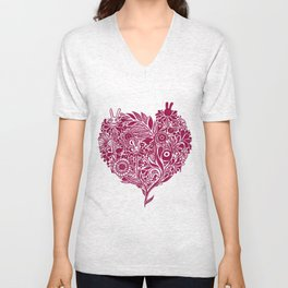 Love from the heart - The right way of life is love 愛由心生 - 愛了就對了 Unisex V-Neck