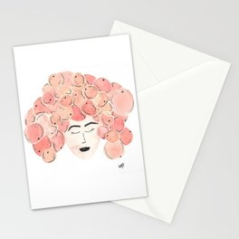 The girl with the tangerine hair. Stationery Cards