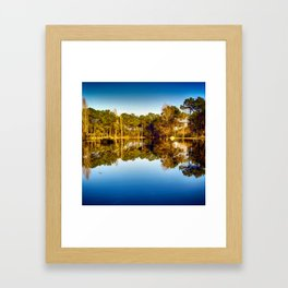 Water Reflections - Colorful Framed Art Print