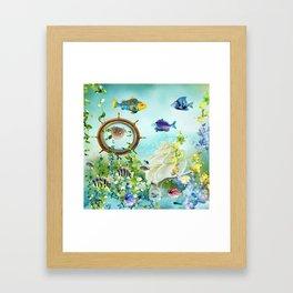 Leben im Wasser Framed Art Print