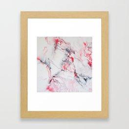 Pink Marble Framed Art Print