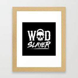 WOD Slay er Skull Framed Art Print