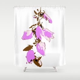 Crzy Harebell Shower Curtain