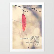 Take Peace Art Print