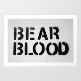 BearBlood logo Art Print