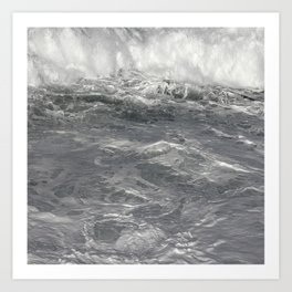 Roiling in Almost Black and White Art Print