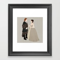 Outlander, Jamie and Claire Framed Art Print