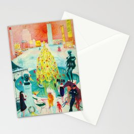 New York City, Winter Time Portrait by Florine Stettheimer Stationery Cards