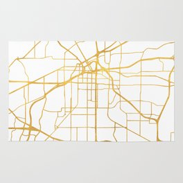 FORT WORTH CITY STREET MAP ART Rug
