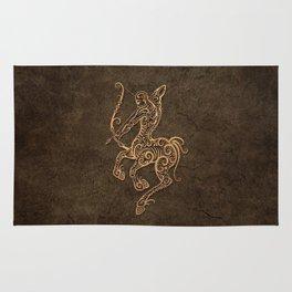 Vintage Rustic Sagittarius Zodiac Sign Rug