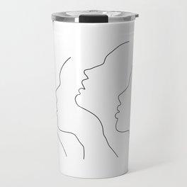Side Faces Travel Mug