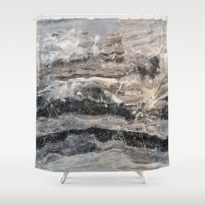 Deep Marble Shower Curtain
