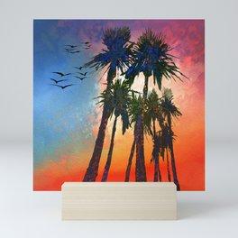 California Sunset Mini Art Print