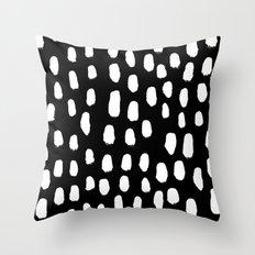 Spots black and white minimal dots pattern basic nursery home decor patterns Throw Pillow