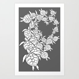 Commission-sea turtles Art Print
