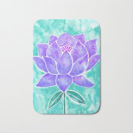 Sacred Lotus – Lavender Blossom on Mint Palette Bath Mat