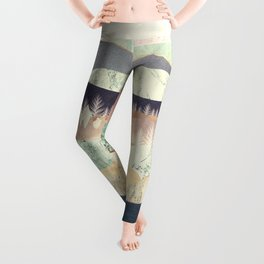 Golden Spring Reflection Leggings