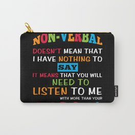 Non Verbal Spectrum Autistic Puzzle Carry-All Pouch