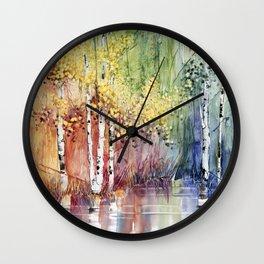 4 Season watercolor collection - summer Wall Clock