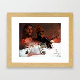 Eagle on Board Framed Art Print