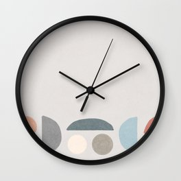 Smiling faces in an abstract cloak #127 Wall Clock