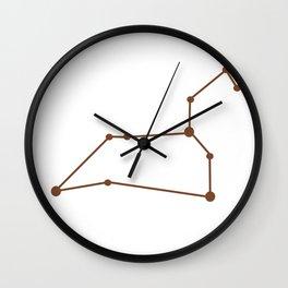 Leo (Brown & White) Wall Clock