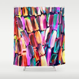 Neon Sugarcane Dark Shower Curtain