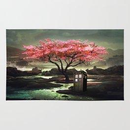 Tardis Blossom Art Painting Rug