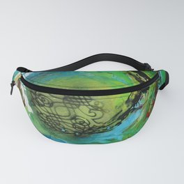 Maelstrom, captivating abstract painting Fanny Pack