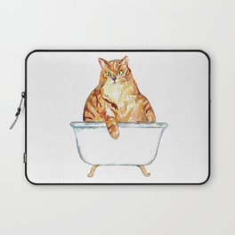 SPA Cat tabby Painting Wall Poster Watercolor Laptop Sleeve