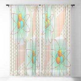 Mid-Century Modern Art Atomic 1.0 Sheer Curtain