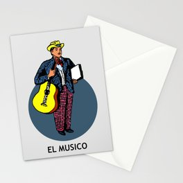 El Musico Mexican Loteria Card Stationery Cards