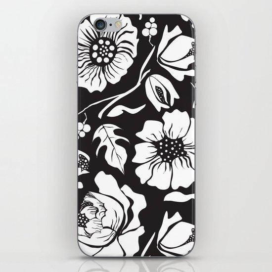 Black Russian Floral iPhone & iPod Skin