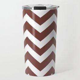 Bole - violet color - Zigzag Chevron Pattern Travel Mug