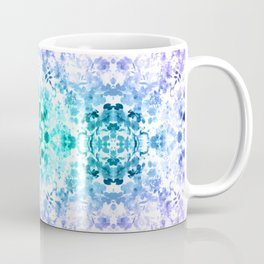 Floral Print - Teal & Purple Coffee Mug