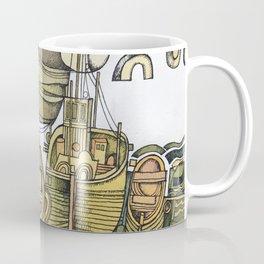 Boats in Folkestone Harbour Kent England Coffee Mug